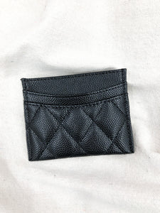 Quilted Card Case in Black
