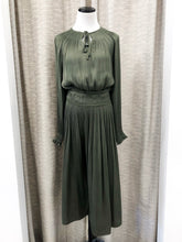 Matty Pleated Dress in Olive - FINAL SALE