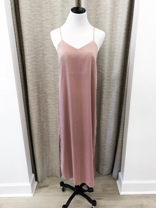 Satin Dress in Rose