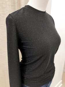 Becky Sparkle Blouse in Black - FINAL SALE