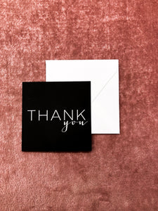 Thank You Black Mini Notecard