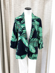 Country Club Blazer in Palm Print - Final Sale