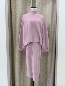 Miley Sweater Skirt in Lilac