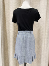 Catherine Pleated Mini Skirt in Chambray