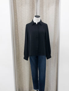 Jackson Placket Blouse in Black - FINAL SALE