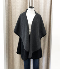 Impeccable Shawl Vest in Charcoal