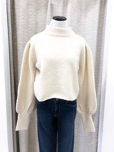 Corrina Cropped Sweater in Ivory