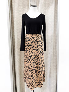 Joselyn Midi Skirt in Leopard