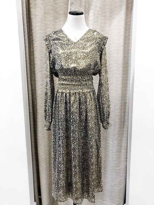 Marzipan Dress in Metallic Gold