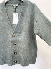 Quinn Button Up Cardigan in Glacier Green