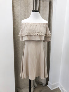 Cha Cha Dress in Taupe