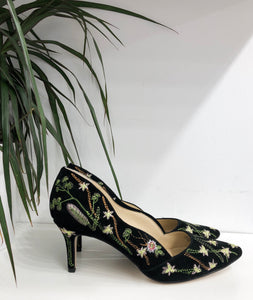 Edith Pump in Black Floral- final sale
