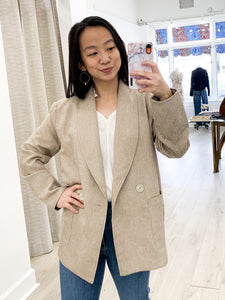 Sabella Double Breasted Jacket in Almond