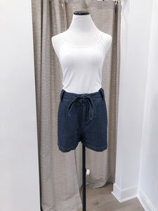 Dark Chambray Shorts with Belt