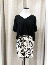 Gwendoline High Waisted Printed Shorts in Cream and Black