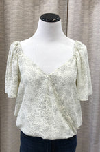Linney Polka Dot Woven Top in Cream and Black