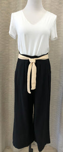 Drew High Waisted Cropped Pants in Black