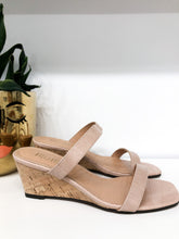 Nate Two Strap Wedges in Rose