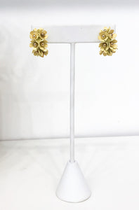 Portico Floral Hoops in Yellow