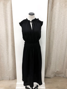 Moira Midi Dress in Black
