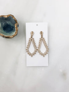 Anna Marquise Earrings in Ivory