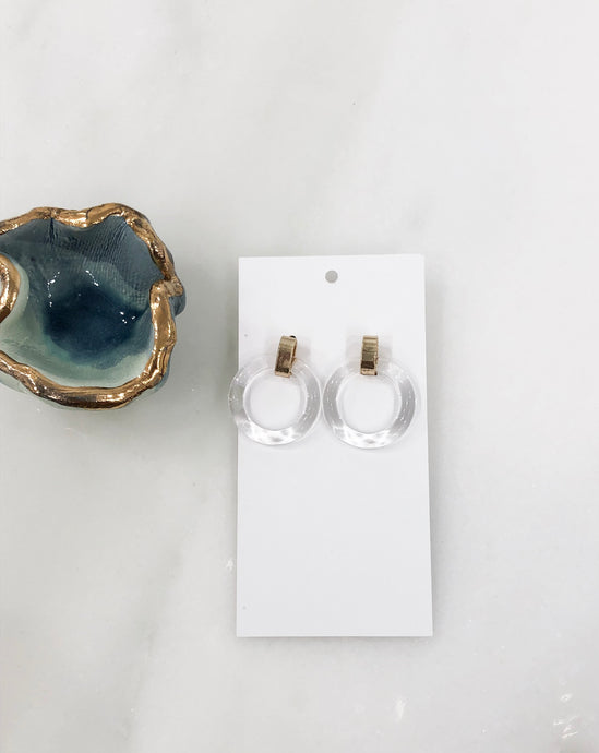Odette Acrylic Earrings in Clear
