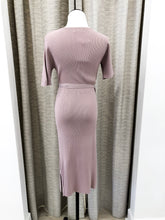 Chelsea Wrap Dress in Mauve