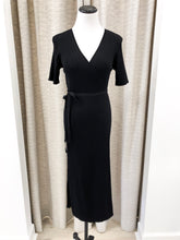 Chelsea Wrap Dress in Black