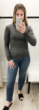 Abigail Round Neck Long Sleeve Sweater in Grey