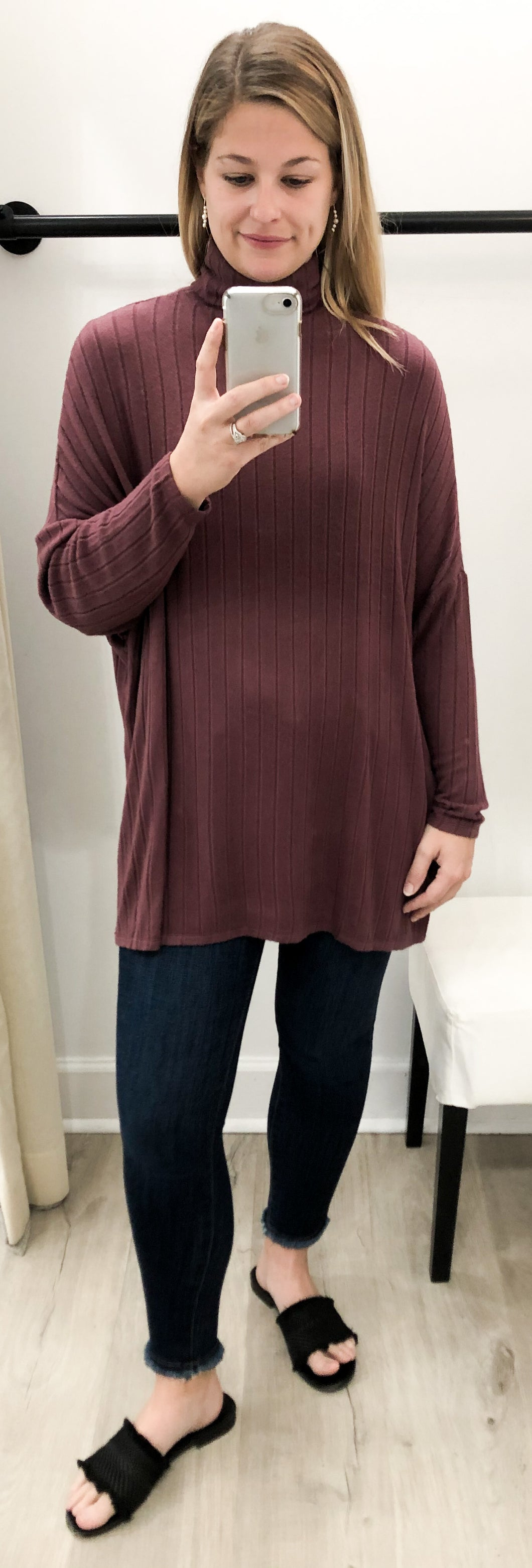 Amy Top in Burgundy