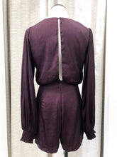 Chriselle Romper in Plum