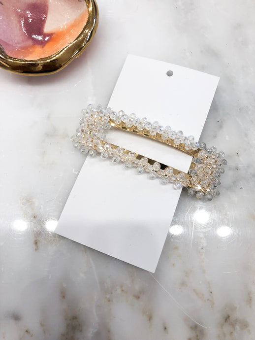 Taipei Rectangle Hair Clip in Clear
