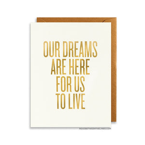 Our Dreams Card
