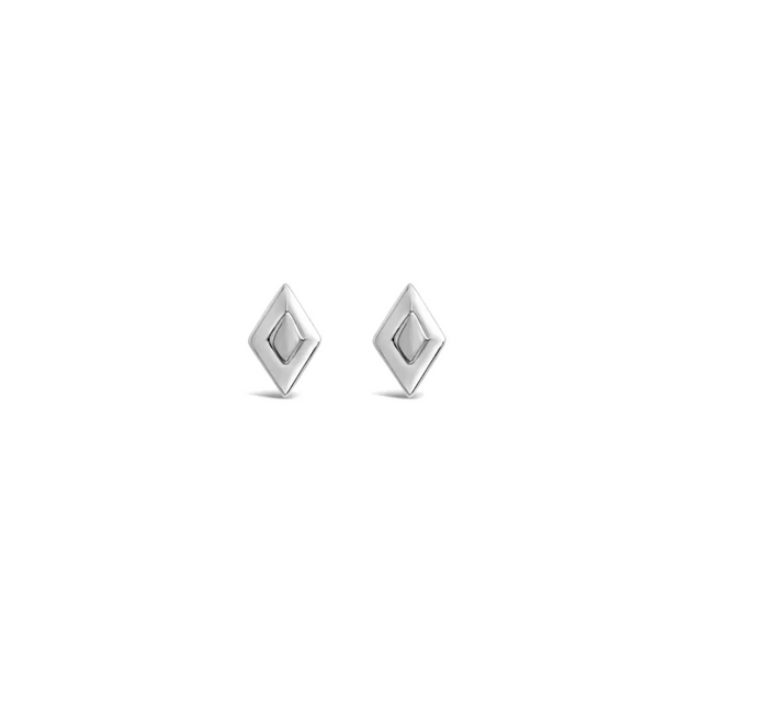 Santa Fe Studs in Silver by Sierra Winter Jewelry