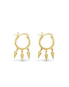 The Wildfire Hoop Earrings by Sierra Winter Jewelry