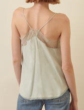 Claire Print Tank Top in Sage Grey