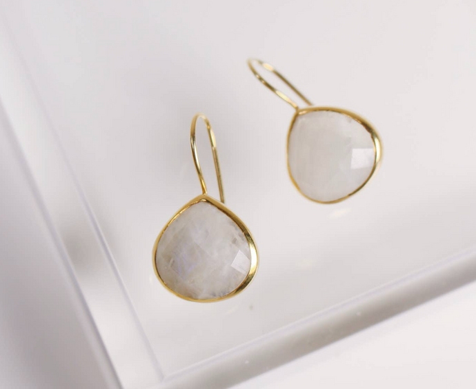 Turks and Caicos Earrings in Moonstone