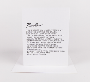 Dear Brother Greeting Card