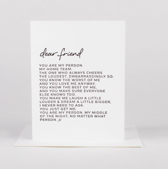 Dear Friend Greeting Card