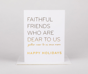 Faithful Friends Holiday Greeting Card