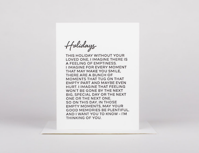 Holidays Aren't Easy Greeting Card