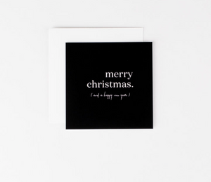 Merry Christmas and Happy New Year Mini Notecard - FINAL SALE