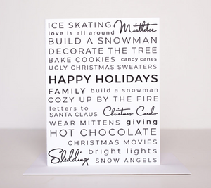 Holiday Activities Greeting Card - FINAL SALE