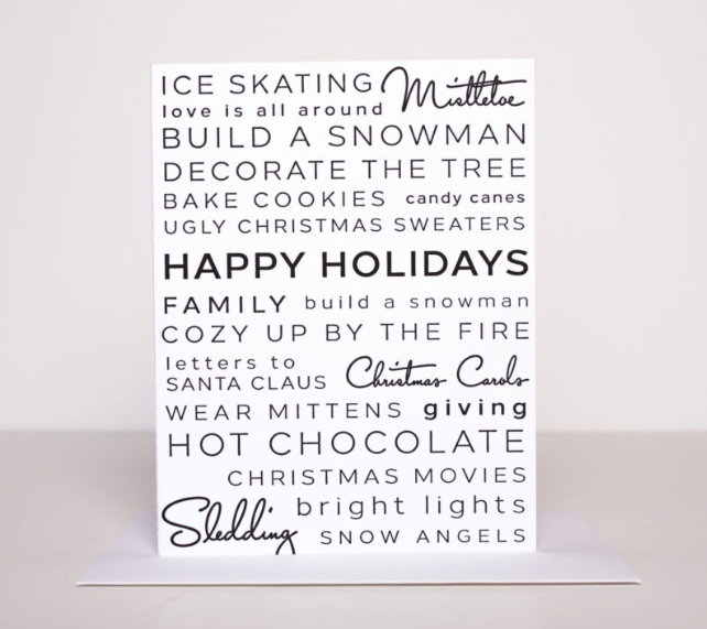 Holiday Activities Greeting Card