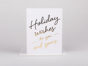 Holiday Wishes to You Greeting Card - FINAL SALE