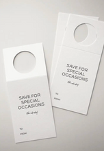 Save For Special Occasions (like Wednesdays) Wine Bottle Tag