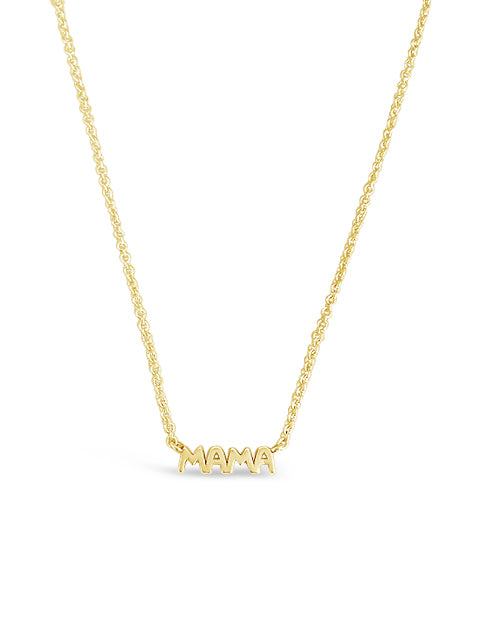 Mama Necklace in Gold Vermeil