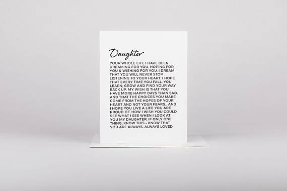 Dear Daughter Greeting Card