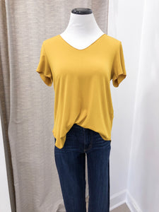 Everyday Short Sleeved Tee in Mustard - Final Sale