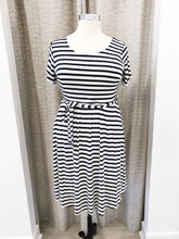 Mitzi Dress in Navy Stripe